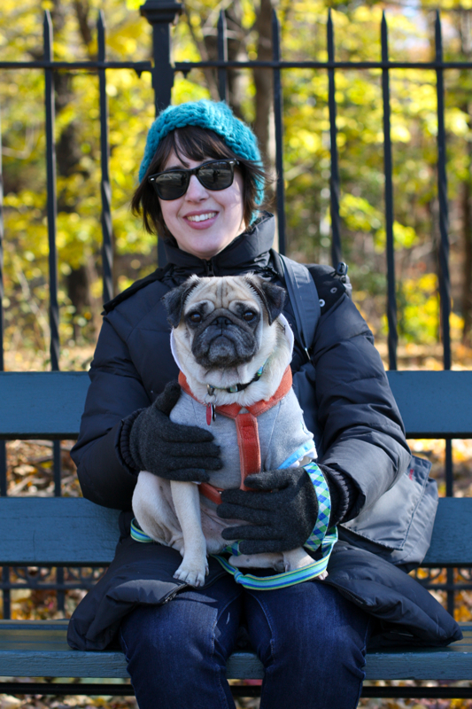 Jenn and Sid at Prospect Park